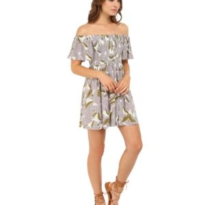 'Louise' Off the Shoulder Smocked Minidress